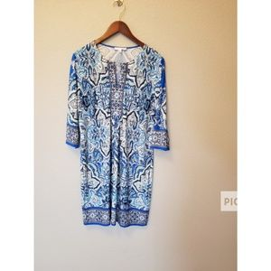 Sandra Dareen Shift Blue dress size 14
